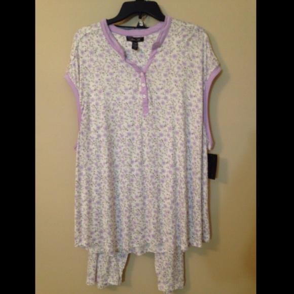 6805ce9686 Rene Rofe Intimates Sleepwear Cap Sleeve Pajama 3X